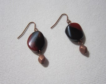 Jasper and copper earrings
