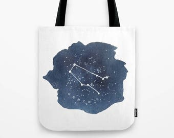 0bc7f4f09a2e Gemini Constellation Tote Gemini Gifts Star Sign Tote Bag Astrology Gifts  Zodiac Canvas Tote Bag Zodiac Birthday Gifts Gemini Art Tote