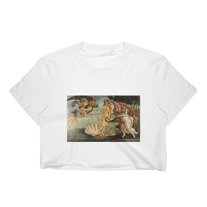 Birth of Venus Top Aesthetic Clothing Crop Top Women Art  8cfb25f71831