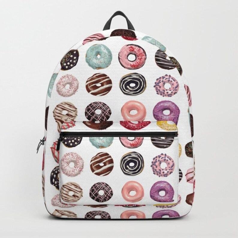Donut Backpack, Kids Backpack, School Bookbag