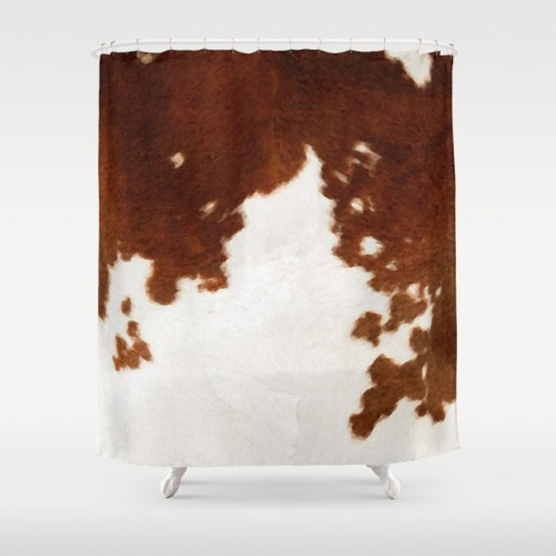 Cowhide Shower Curtain Cow Print Country