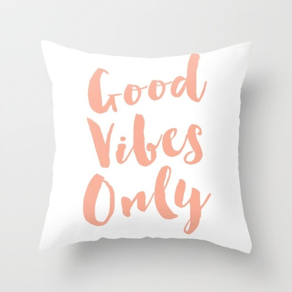 Good Vibes Only Pillow Quote Pillow Beach Boho Girly Hipster Etsy Cool Hipster Decorative Pillows