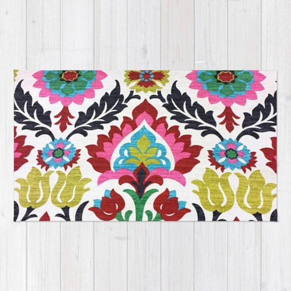 Floral Damask Area Rug: Damask Area Rug 2x3 Rug Colorful Pattern Floral Rug Living