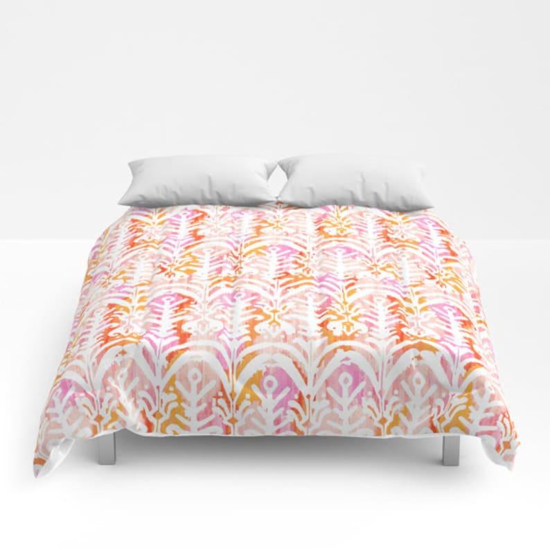 12865e81c76a7 Pink and Orange Duvet Cover Girls Comforter king queen full twin xl dorm  bedding tribal print duvet pink Duvet Cover Teen girls Bedding Set