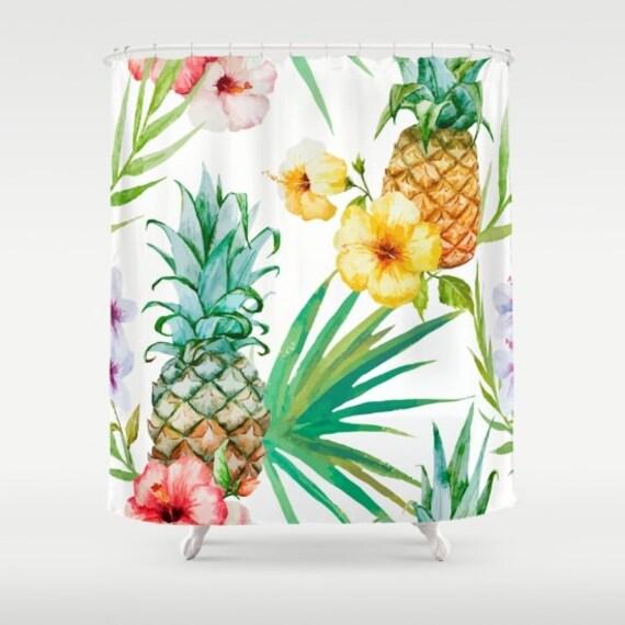 Pineapple Shower Curtain Fabric