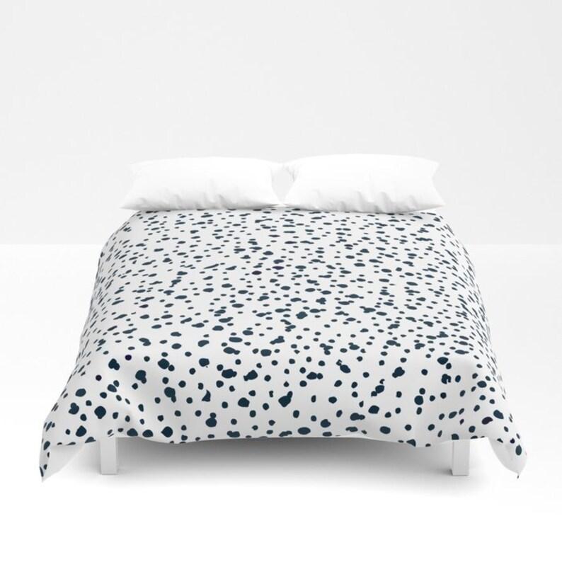 48afcba854bd0 Dalmatian Bedding Duvet Cover Girls Dalmatian Print Comforter king queen  full twin xl dorm bedding Black White Bedding Girls Animal Print