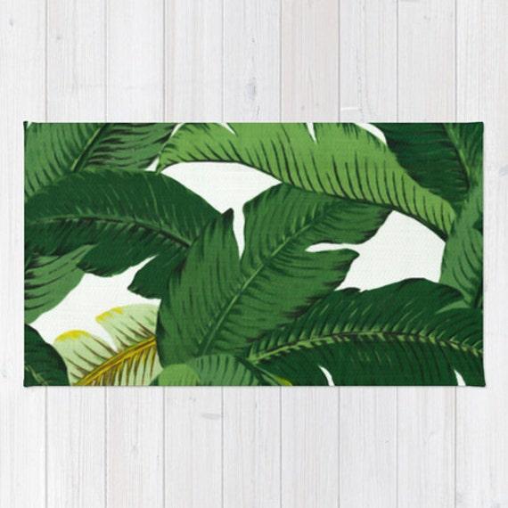 Palm Leaf Area Rug 2x3 Rug Banana Leaves Rug 3x5 Rug 4x6 Area Etsy