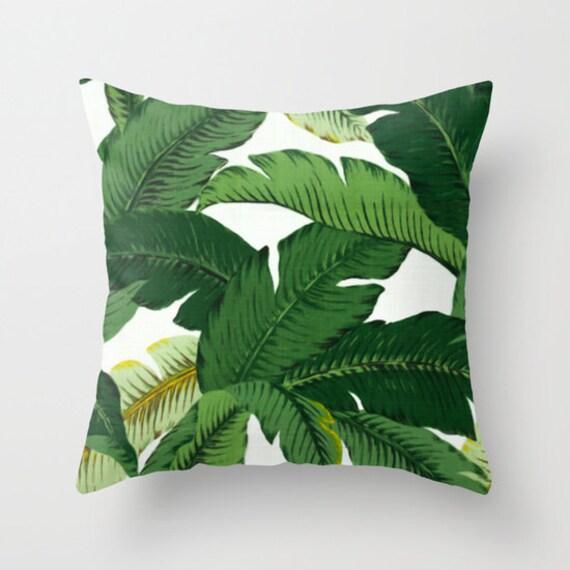 Palm Leaf Pillow Banana Leaves pattern