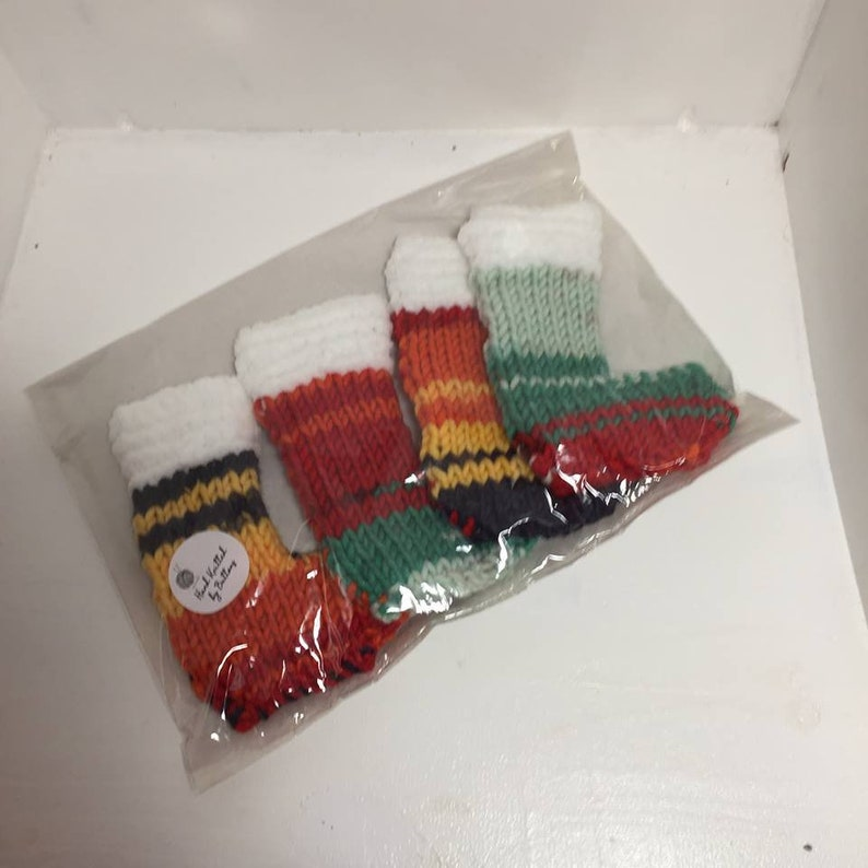festive hand knitted christmas cutlery holders  etsy