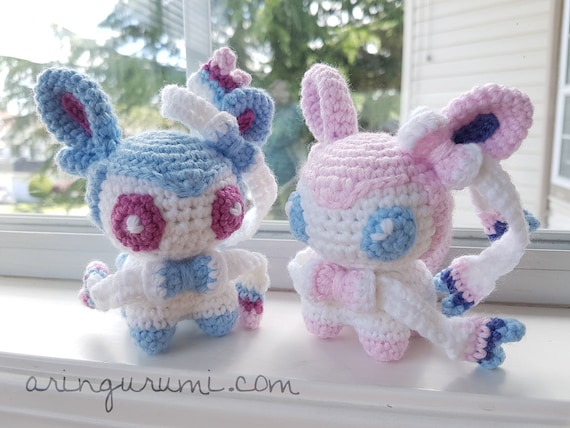 Complete set of 9 eeveelution amigurumi - crochet plush eevee ... | 428x570