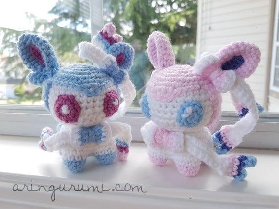 Complete set of 9 eeveelution amigurumi - crochet plush eevee ... | 428x570