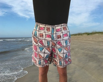 71648d43c5 Vintage 1980's Swimming Trunks by ParaSport - Retro Surf Style - 80's Beach  Swimwear - Bathing Suit / Shorts - Men's Size Extra Large (XL)