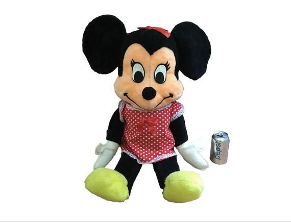 Rare Large 1960 S Minnie Mouse Plush Doll Vintage Walt Etsy