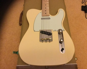 Custom Electric Guitar, Hand-carved telecaster guitar, one-piece maple neck, one-piece southern ash body, Callaham hardware, Lollar pick-ups