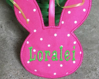 Easter Basket Tag, Personalized Name Tag, Bunny Tag, Easter