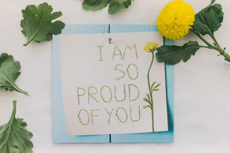 Greeting Card Proud Of You Thinking Of You Cards Etsy