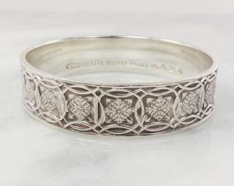 21e6af8c4 Tiffany Sterling Silver Bracelet Tiffany Celtic Leaf Bangle Bracelet TIFFANY  & CO 925 Sterling Bracelet Heavy Irish Design Bangle 26373