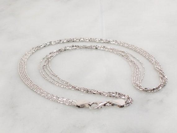 Vintage 14k Multi Strand Necklace Italian Gold Ne… - image 3