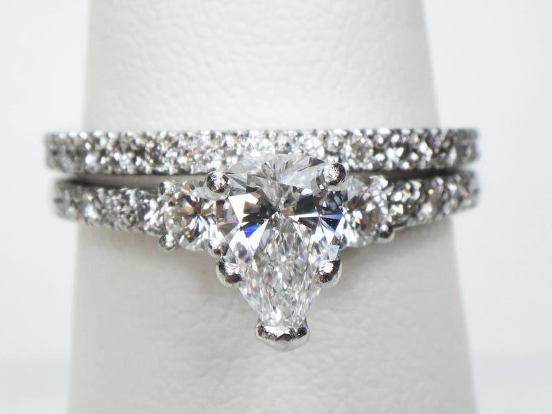 75fe72d500a94 Scott Kay Diamond Wedding Ring Set Platinum Engagement Ring | Etsy