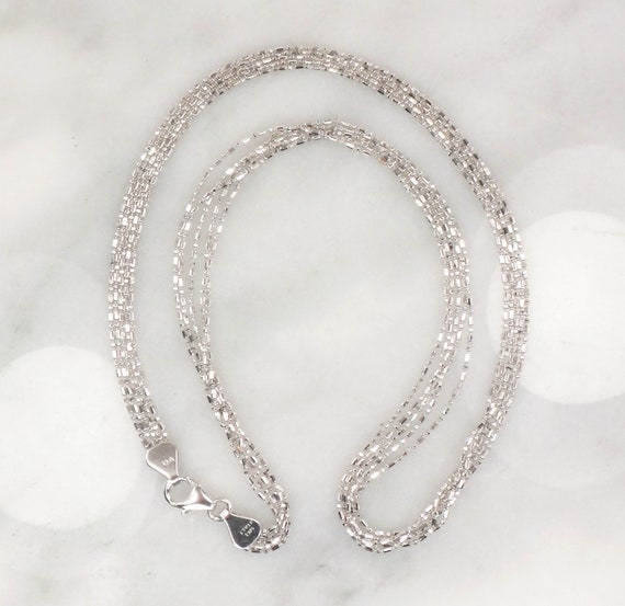 Vintage 14k Multi Strand Necklace Italian Gold Ne… - image 5