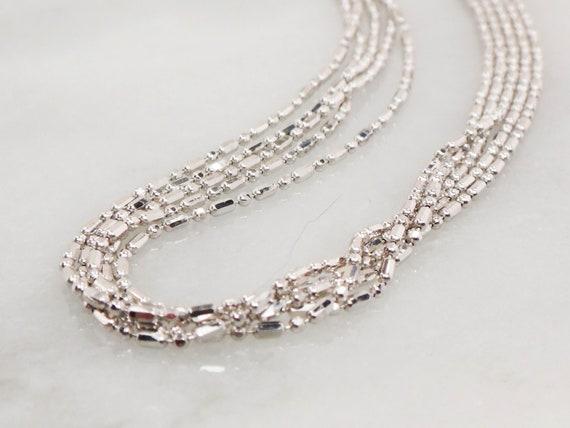 Vintage 14k Multi Strand Necklace Italian Gold Ne… - image 4