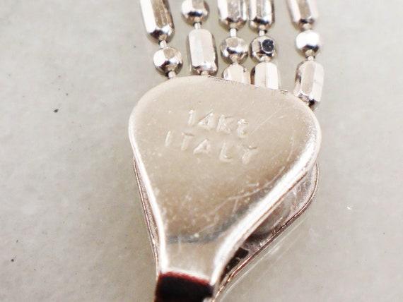 Vintage 14k Multi Strand Necklace Italian Gold Ne… - image 8