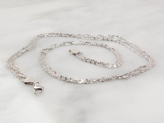 Vintage 14k Multi Strand Necklace Italian Gold Ne… - image 7