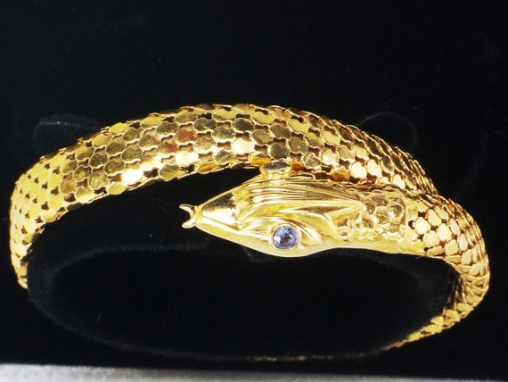 Vintage 18k Snake Bracelet 18k Gold Bracelet Yello
