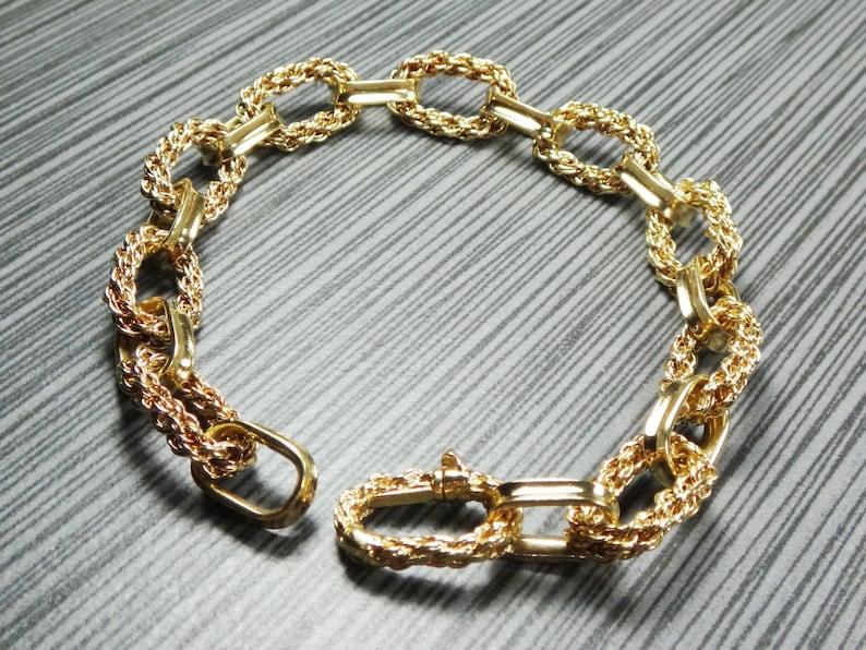 9875f1e6c4ca2 Vintage Tiffany Bracelet 18k Gold Bracelet Large Fancy Link