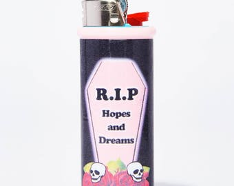 R.I.P Hopes And Dreams Grunge Bic Lighter Case