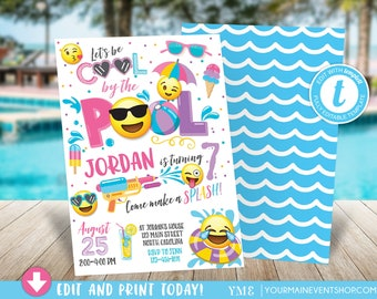 pool party invite etsy