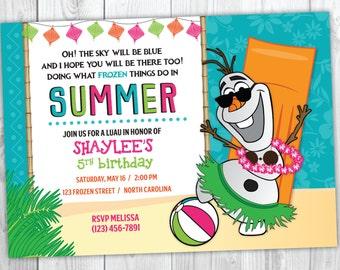 Anna Olaf Summer Birthday Elsa Personalized Birthday Banner Disney/'s Frozen Frozen in the Summer Beach Party