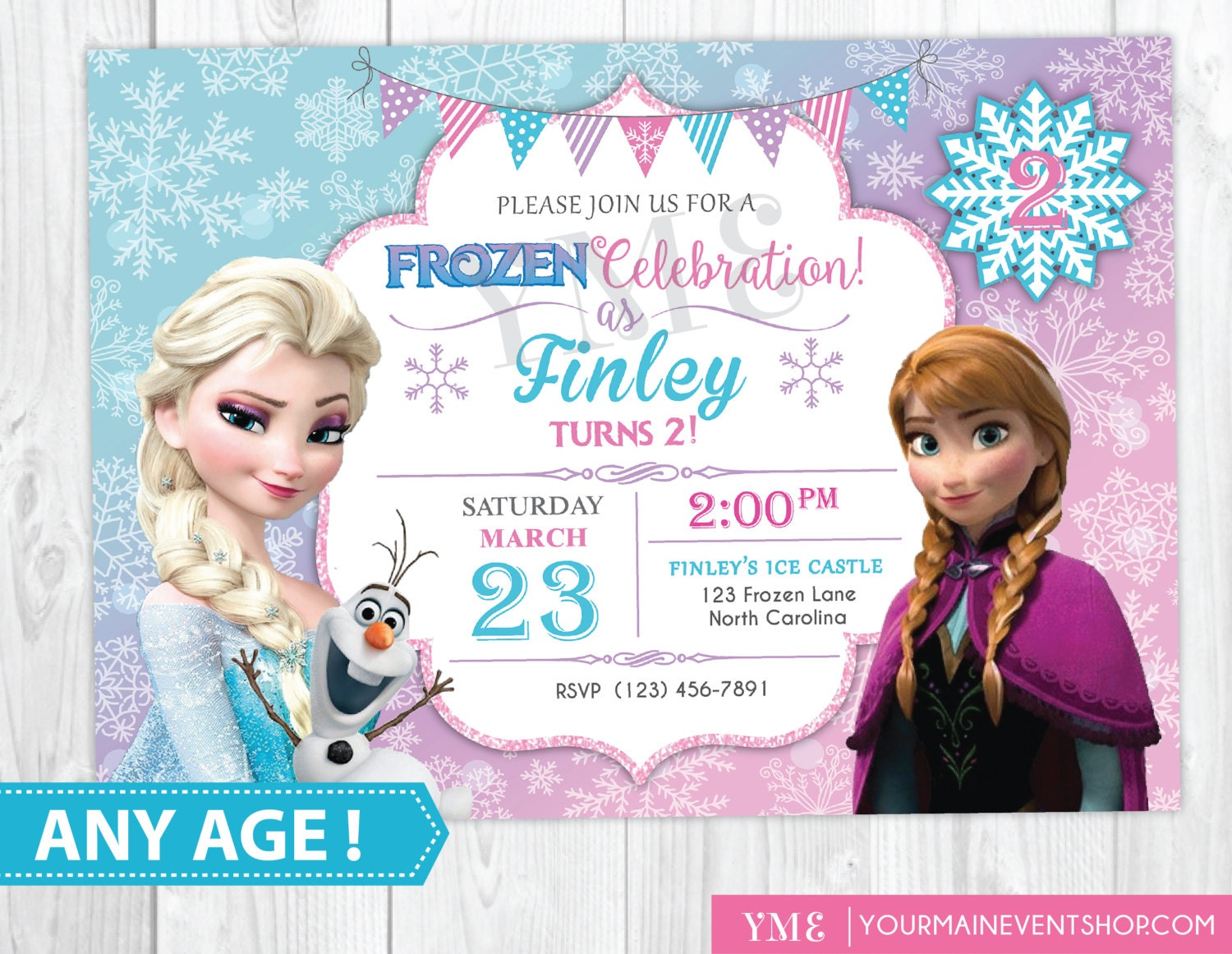 Frozen Birthday Invitation Printable Frozen Invitation | Etsy