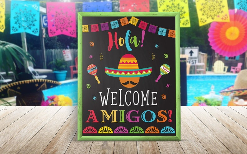 Fiesta Welcome Party Sign Fiesta Party Decorations Mexican Etsy