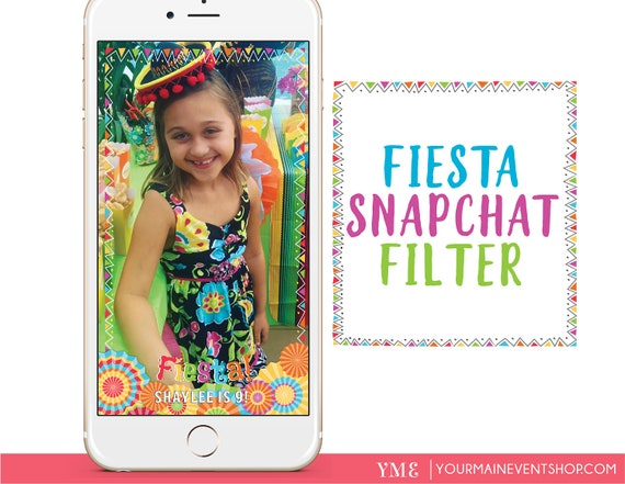 Fiesta Birthday Snapchat Geofilter Personalized Custom Fiesta Party On Demand Geo Filter For Snapchat