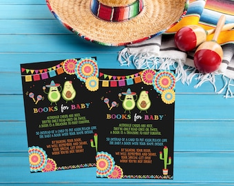 Fiesta Baby Shower Book Request Card Card, Books For Baby Taco Bout A Baby Mexican Baby Shower Raffle Instant Download