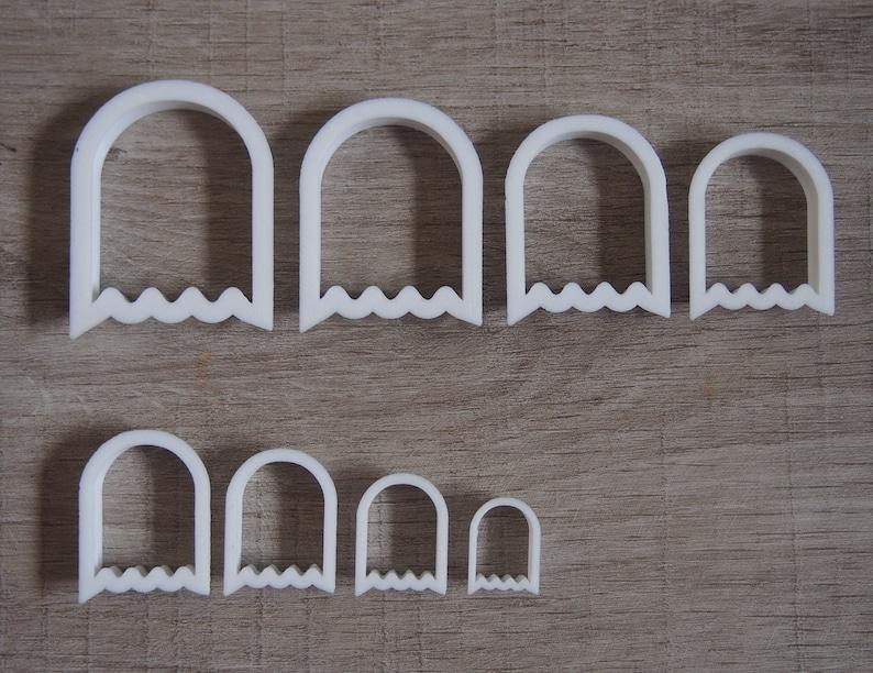 arch packman, polymer clay cutter, modern cutter, arch shaped, half oval cutter, clay cutter set, 3d cutter, clay tool Packman Cutter Set