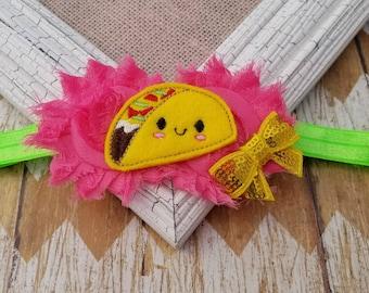 Taco headband, girls headband, toddler headband, baby headband, felt headband, food headband, photo prop, girls taco headband, headband