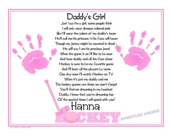 Daddys Girl Nascar Sports Poem Print Baby Handprints Etsy