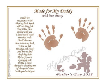 Daddy Teach Me to Fish Personalized Poem 8 x 10 Art | Etsy