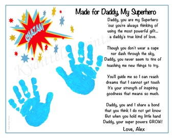 Christmas~Birthday Gift For Dad~Daddy~Father Personalized Poem Rainbow Hands