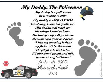 Walk Beside Me Daddy© Poem Baby / Child Handprint