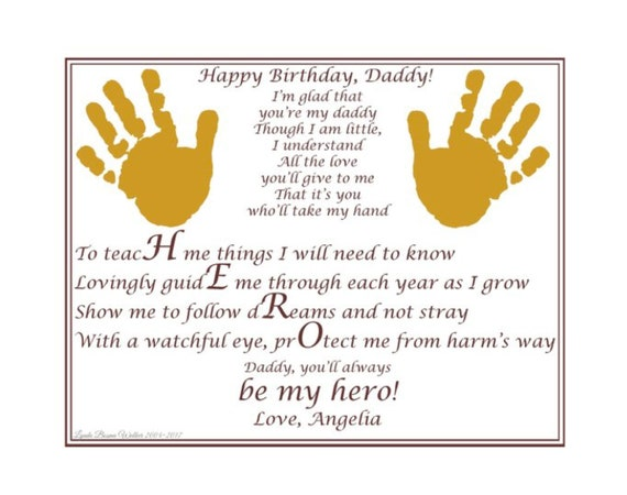 Always My Hero Take My Hand Daddy Poem Baby Child Etsy