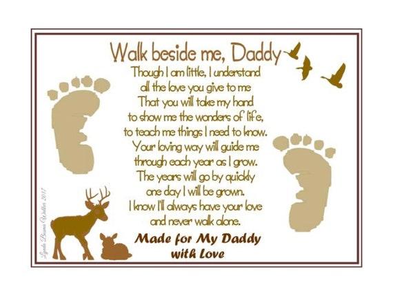 Walk Beside Me Daddy© Poem Baby / Child Handprint / | Etsy