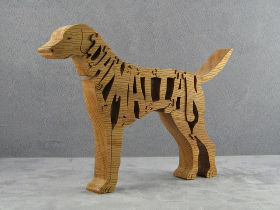 Corgi Solid Wood Wall Hanging Figure