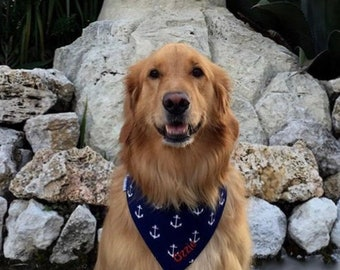 Nautical Dog Bandana with Anchors