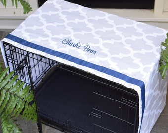 Pet Crate Cover, Sizes Sm - XXL, Monogrammed Crate Cover for Dogs