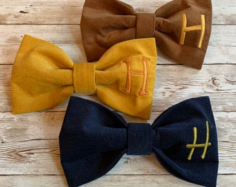 Personalized Dog Bow Tie | NEW Corduroy Bow Tie | Monogram Classic Bow Tie for Dogs | Fall Fun