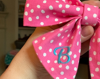Gingham Dog Bow Ties - Monogram Argyle Girl Sailor Bow - Houndstooth Bows for boys and girls - Best Custom Gifts - Special Occasion