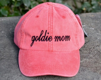 Golden Dog Mom Handwriting Baseball Cap